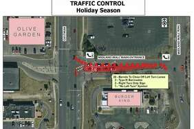 The Midland Police Department alerted the public via Facebook that the left turn and through routes out of the Midland mall at the signalized exit will be prohibited during holiday traffic.