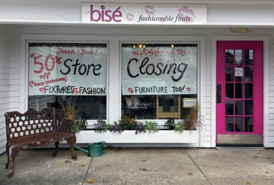 Bise Fashionable Finds in Ridgefield is closing after eight years in business. Photo: Contributed