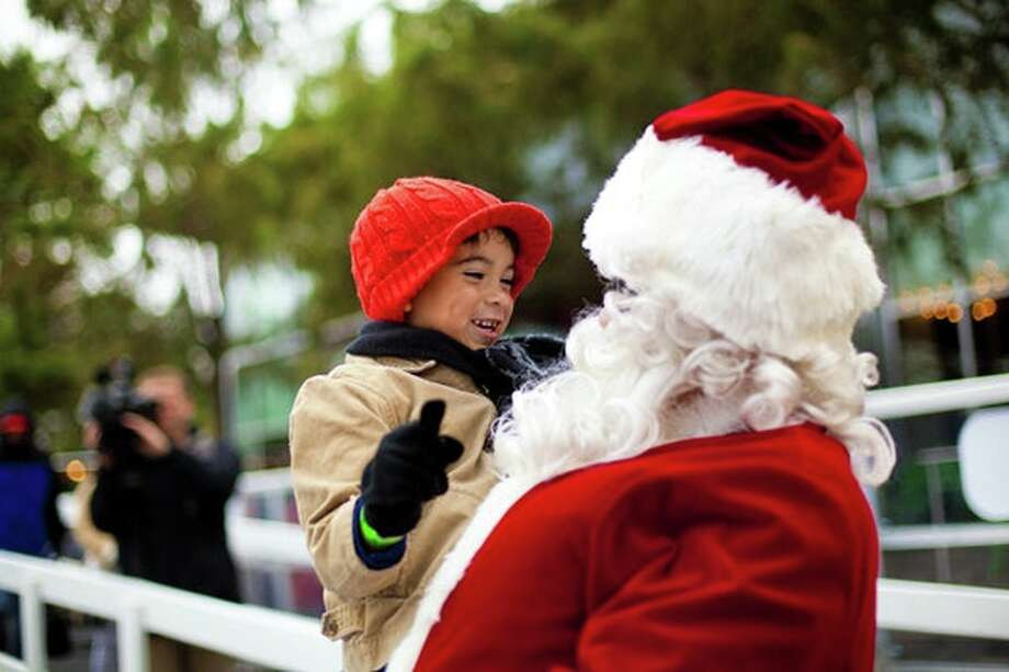 Skate event with Santa at the ice rink at Discovery Green. Photo: Courtesy Photo
