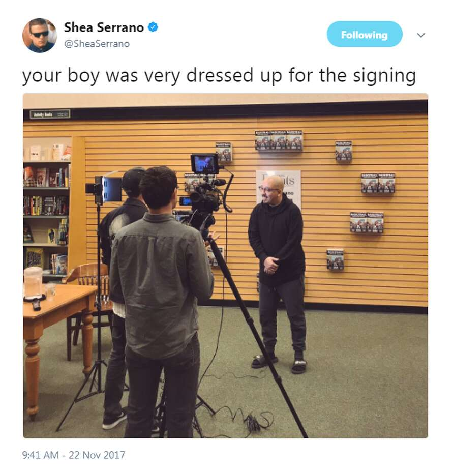 @SheaSerrano: Your boy was very dressed up for the signing Photo: Twitter.com