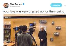 @SheaSerrano: Your boy was very dressed up for the signing