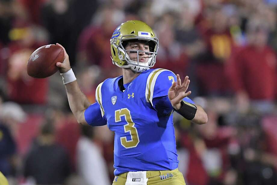 UCLA quarterback Josh Rosen passes during the first half of an NCAA college football game against Southern California, Saturday, Nov. 18, 2017, in Los Angeles. (AP Photo/Mark J. Terrill) Photo: Mark J. Terrill, Associated Press