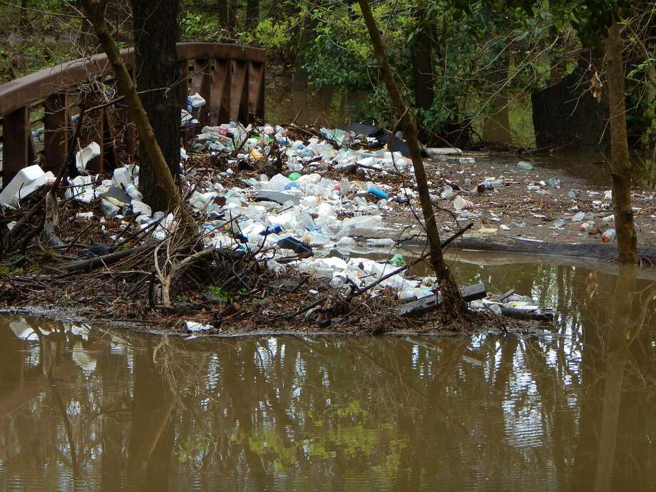 Photos from February 2017 show a buildup of trash in the Olmos Creek area. Photo: Courtesy/Sarah Reveley