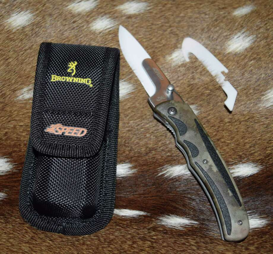 Browning's Speed Load Ceramic knife, the latest cutting and field dressing tool for hunters. Photo: Courtesy Photo /