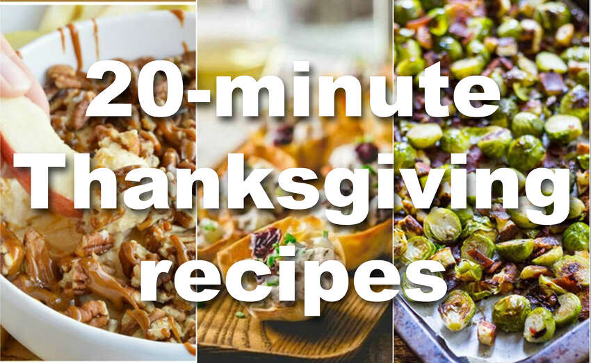20-minute Thanksgiving recipes for the procrastinators of the world.