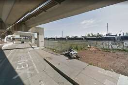 Police dispatchers received information from a caller about 3:15 a.m. that a man with a gunshot wound was lying on the ground under the freeway overpass, just west of the intersection of E. 12th Street and 19th Avenue, said Officer Johnna Watson of the Oakland Police Department.