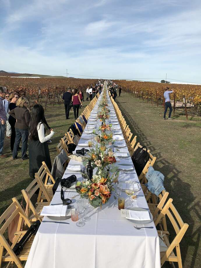The Grateful Table benefit featured a table that seated 500 stretching down the Sonoma and Napa county lines. Photo: Michael Bauer, The Chronicle