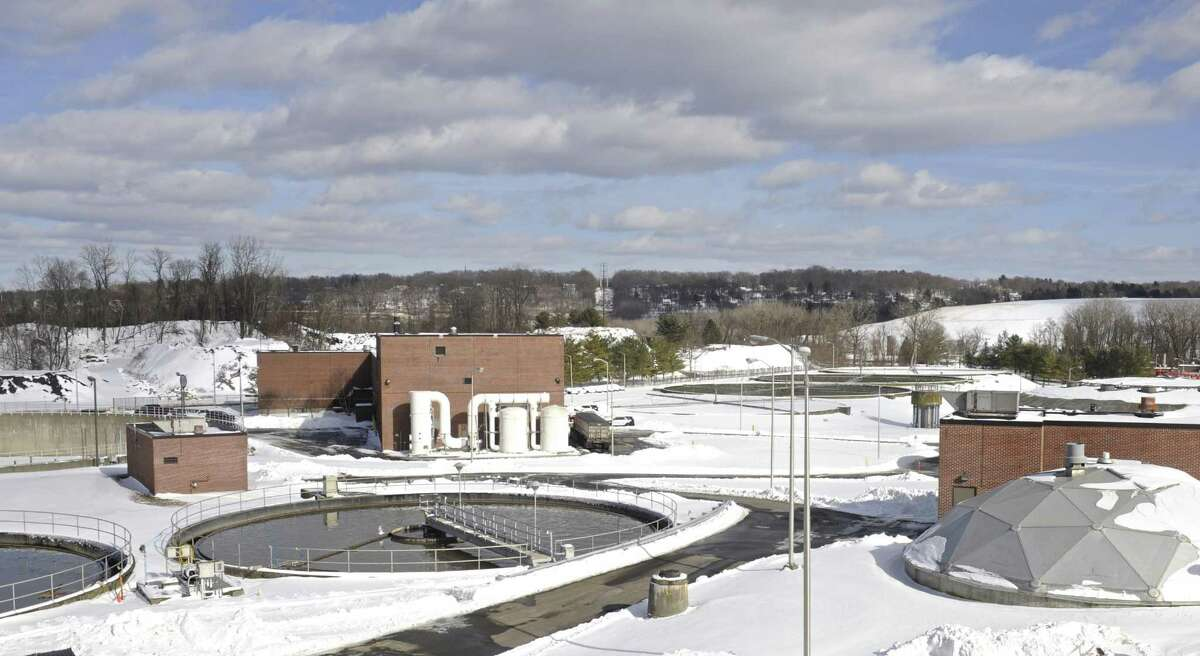 Primary Settlement tanks at the Danbury wastewater treatment plant. File photo.