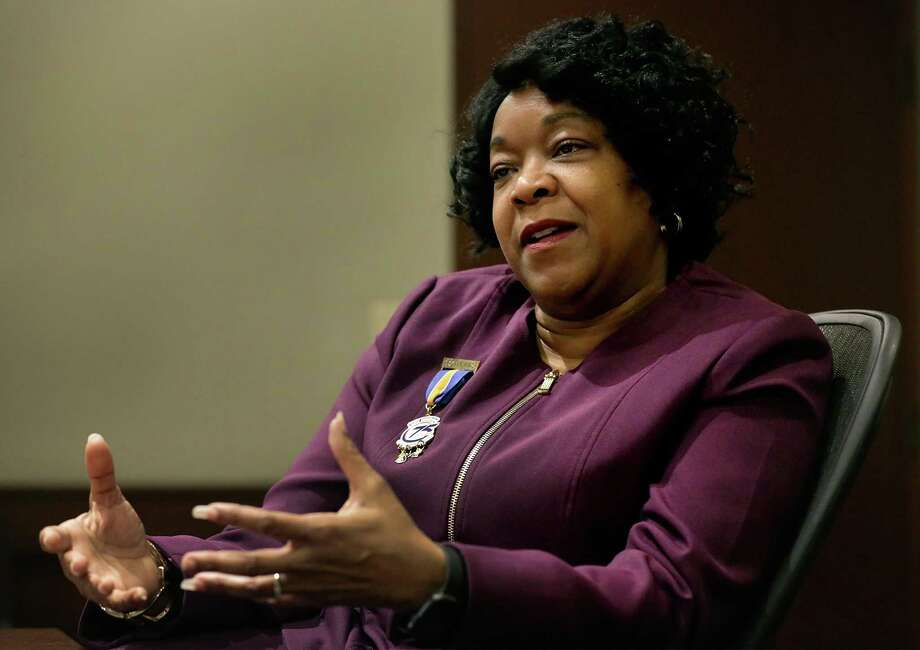 Paula Gold-Williams, President and CEO of CPS Energy, on Tuesday, Nov. 21, 2017. Gold-Williams rolled out a new 'flexible path' strategy plan that allows the city-owned utility to gradually curtail its use of fossil fuels. Photo: Bob Owen /San Antonio Express-News / ©2017 San Antonio Express-News