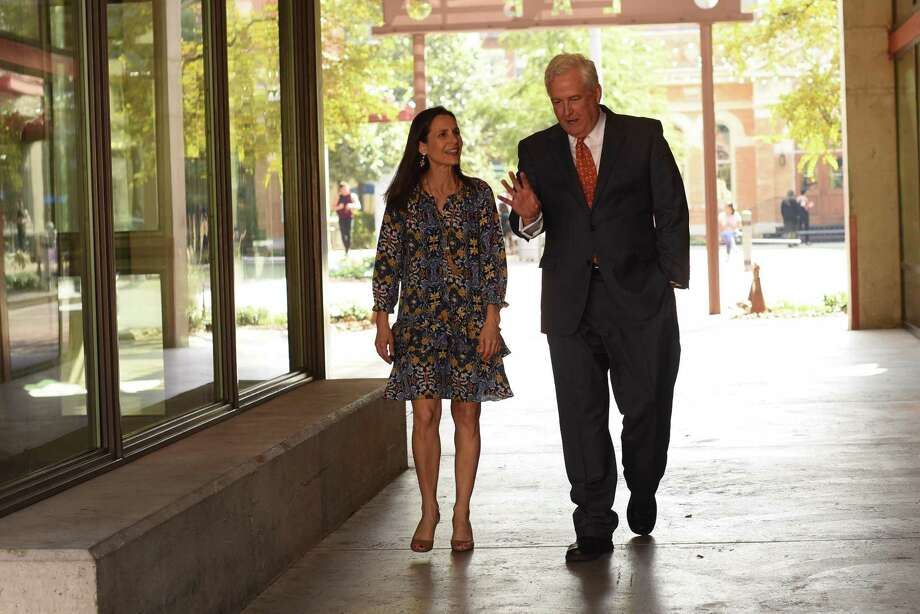 San Antonio Area Foundation CEO Dennis Noll and President and COO Rebecca Brune administer an organization which makes grants to charitable causes from funds established by individuals, families, businesses and other entities. Photo: Billy Calzada /San Antonio Express-News / SAN ANTONIO EXPRESS-NEWS