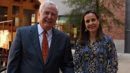 San Antonio Area Foundation CEO Dennis Noll and President and COO Rebecca Brune. The organization had $900 in assets at the end of last year and distributed more than $53 million in grants and scholarships.
