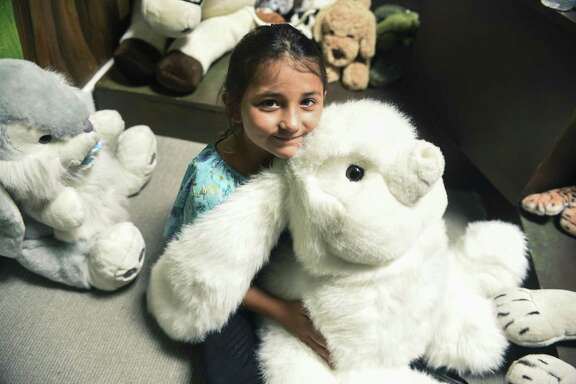 The drama studio at the Children's Bereavement Center of South Texas  houses plenty of stuffed animals,  a puppet theater space and a time machine area.