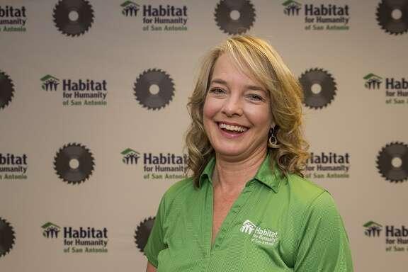 Habitat for Humanity volunteer Teresa James at their offices in San Antonio, Thursday, Nov. 9, 2017.