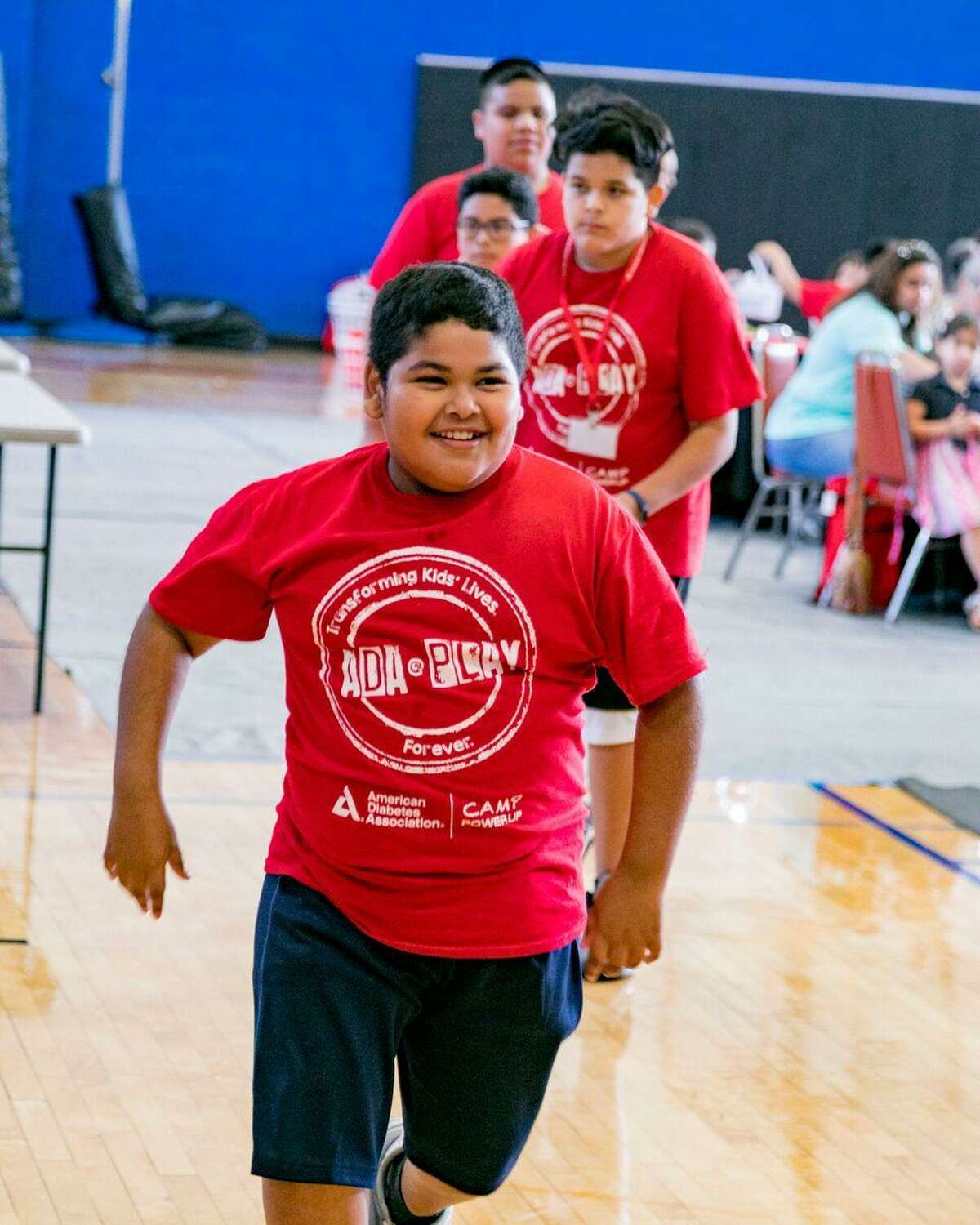 Nathaniel Rivera enjoys physical activities at the American Diabetes Association's Camp PowerUp. The nonprofit association hosts the camp each summer in San Antonio for children who are at risk of developing Type 2 diabetes.