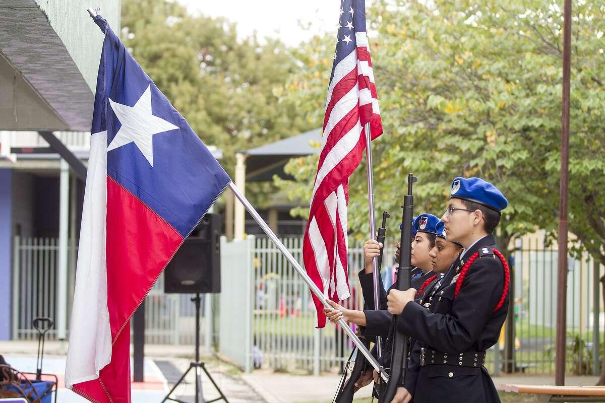 Veterans celebration at the Good Samaritan Community Services Center, Thursday, Nov. 9, 2017.