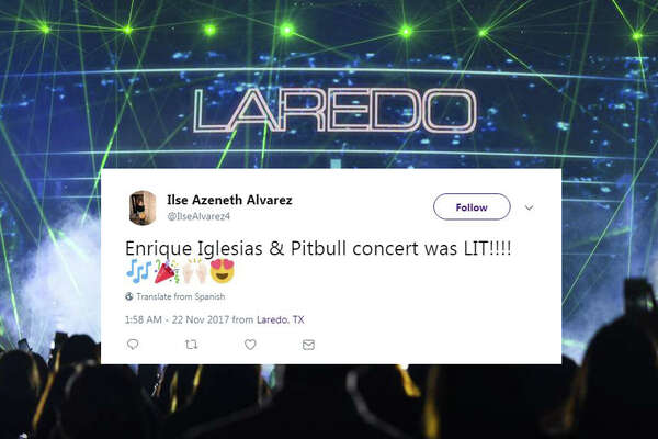 Locals posted photos and reactions from Tuesday night's Pitbull and Enrique Iglesias concert at Laredo Energy Arena to social media.