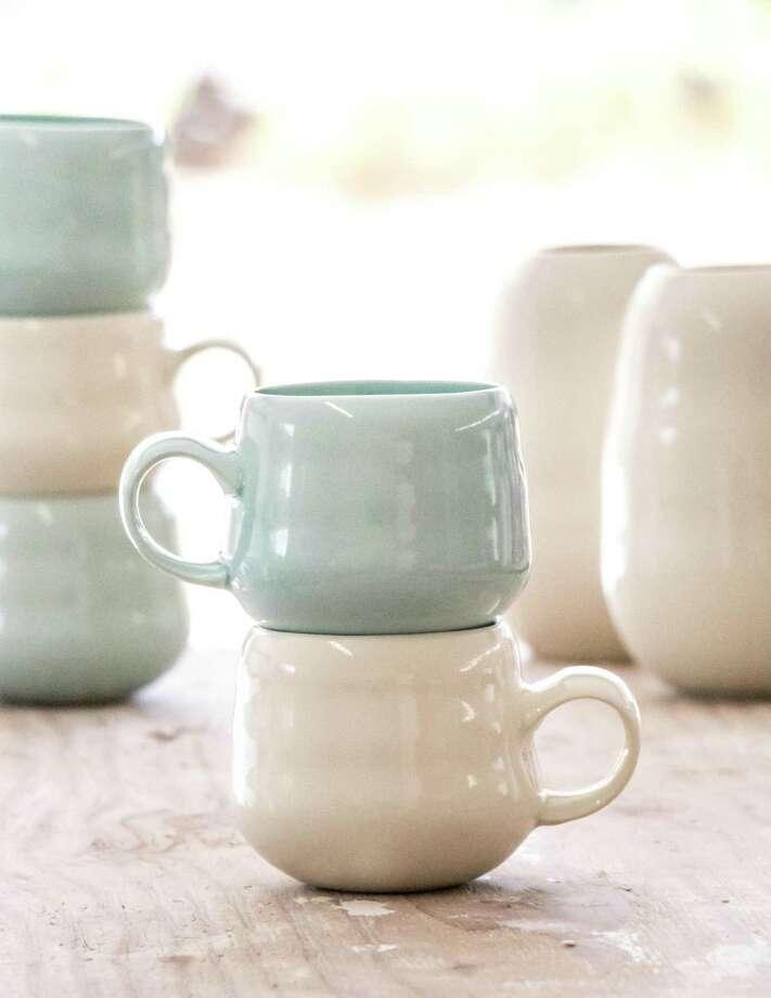 Brownell Ceramics' Lomas Series porcelain mugs. Photo: CourtesyVas Kiniris