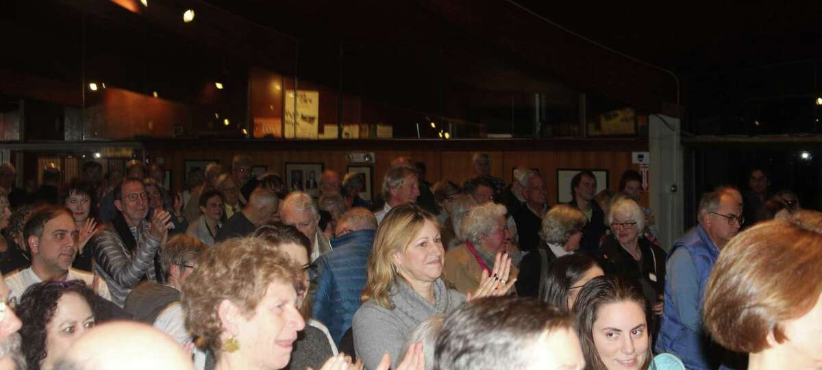 Rep. Jim Himes spoke at the The Unitarian Church of Westport on the night of Nov. 21 to a packed house.