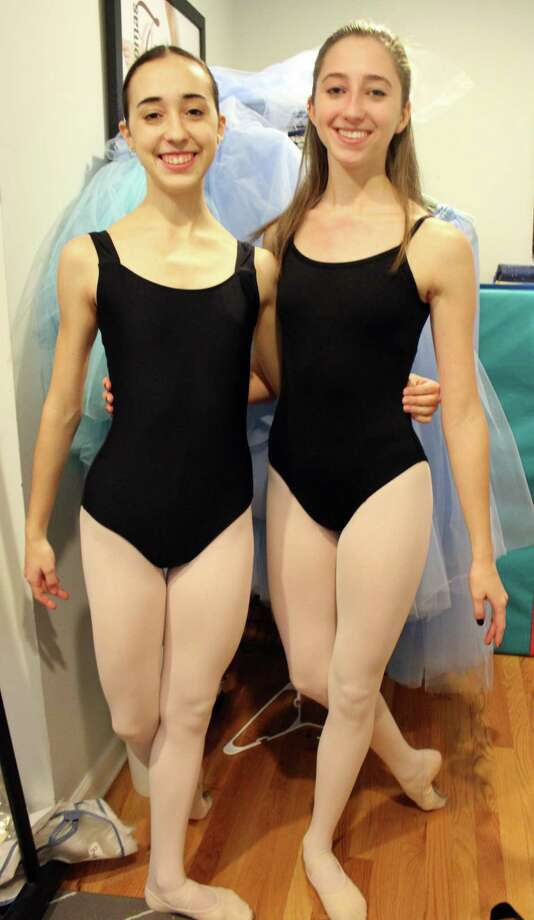 """Sophie Graham, left, and Colleen Brereton at the New England Academy of Dance in New Canaan. Graham plays the Sugar Plum Fairy and Brereton plays Clara in the group's production of """"The Nutcracker,"""" starting Dec. 8, 2017 in New Canaan, Conn. Photo: Erin Kayata / Hearst Connecticut Media / Darien News"""