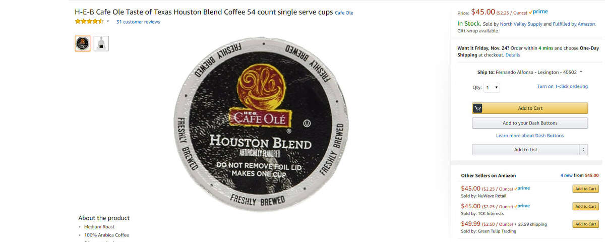 H-E-B Cafe Ole Taste of Texas Houston Blend Coffee $45.00