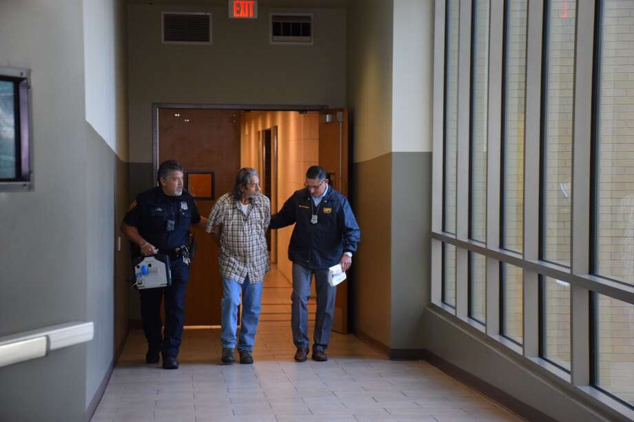 Roy Hernandez, 53, was arrested Wednesday in connection with the slaying of his former wife, whose body was found buried in his backyard in 2006. Photo: Caleb Downs / San Antonio Express-News