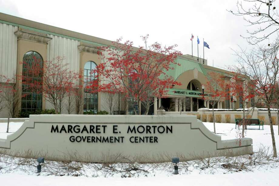 The Margaret E. Morton Government Center at 999 Broad St. in Bridgeport. Photo: Cathy Zuraw / Hearst Connecticut Media / Connecticut Post
