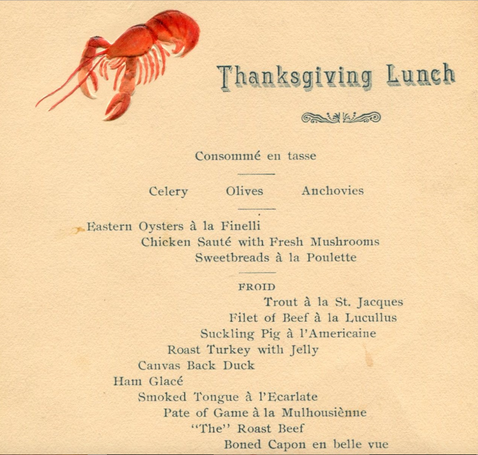 Historic SF Restaurant Menus Show What People Were Eating