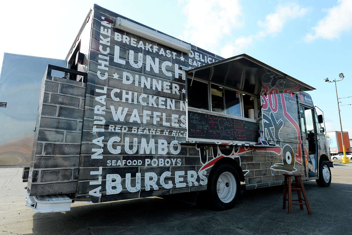 The Me So Hungry food truck set up in Port Arthur. The food truck serves seafood, burgers, gumbo and other items. Photo taken Wednesday 11/15/17 Ryan Pelham/The Enterprise