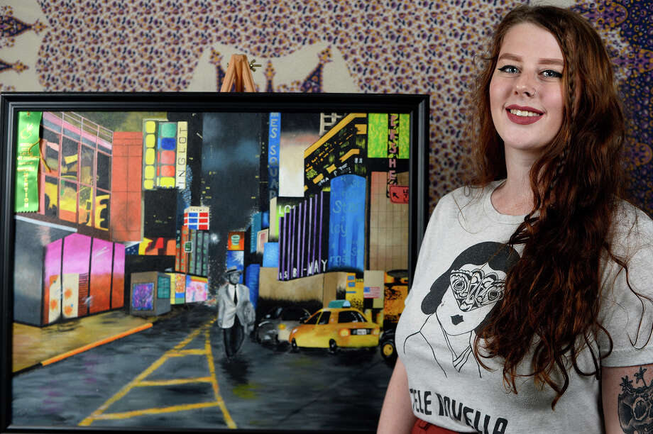 Lanee Tesch began experimenting with different art techniques as a child. Now a 20-year-old Lamar University student, she continues painting and drawing.  Photo taken Thursday 11/9/17 Ryan Pelham/The Enterprise Photo: Ryan Pelham / ©2017 The Beaumont Enterprise/Ryan Pelham