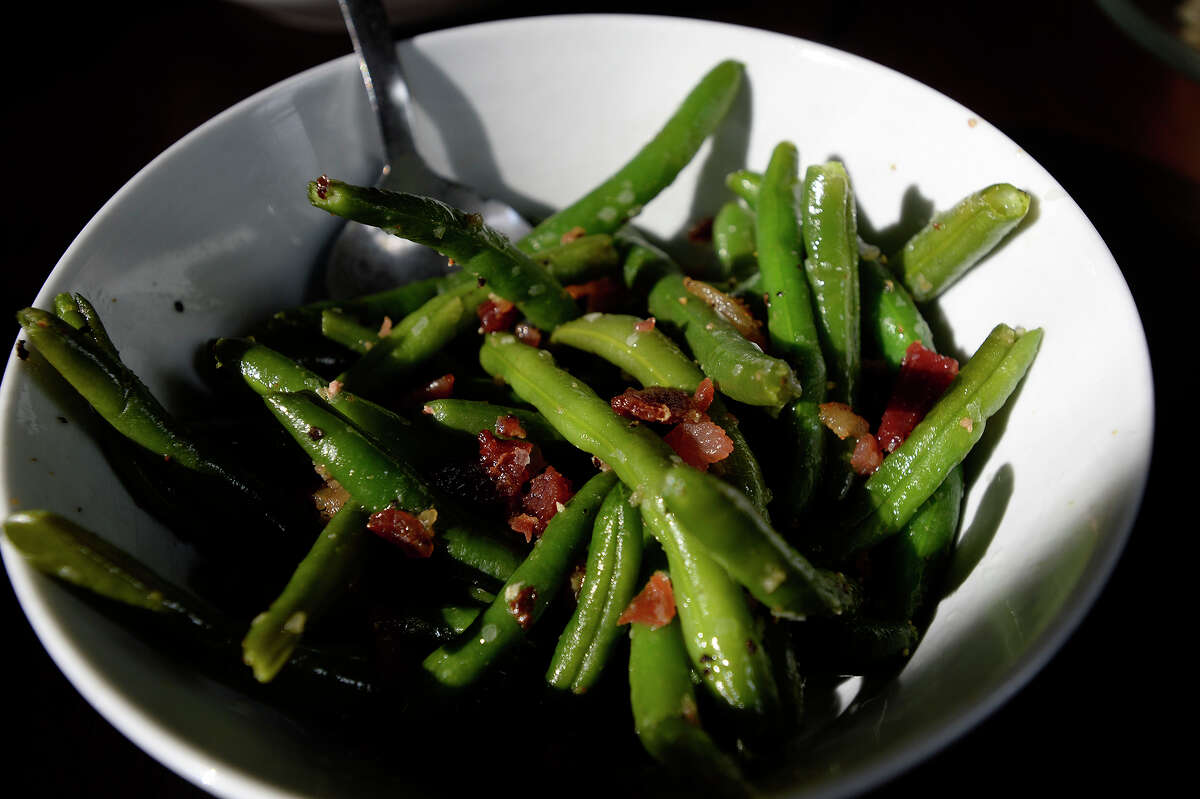 Green beans at Republic Chicken in Beaumont. Side dishes at the restaurant are served family style in large servings. Photo taken Tuesday 10/11/16 Ryan Pelham/The Enterprise