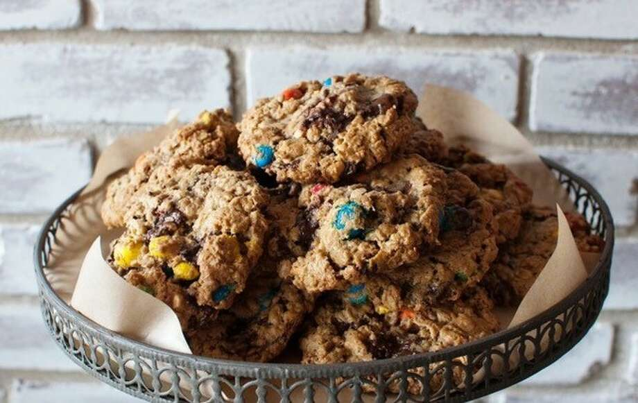 BIRD bakery is a cult favorite in Alamo Heights in San Antonio. These Monster Cookies from owner Elizabeth Chambers are one of my all-time favorites! Made flourless with oats, peanut butter, chocolate chips and M&M's.