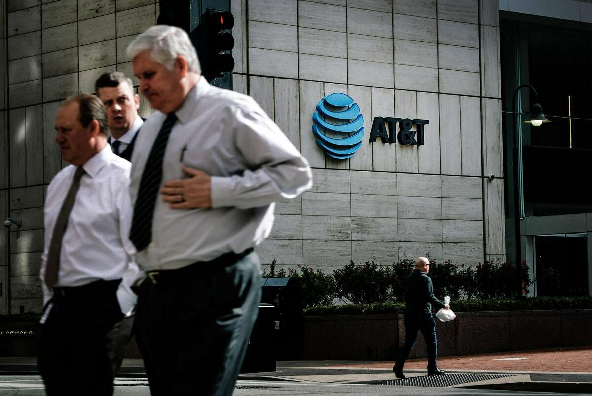 AT&T�s headquarters in downtown Dallas, Nov. 21, 2017. The Justice Department�s move to block AT&T�s takeover of Time Warner and the FCC�s plans to dismantle net neutrality rules represent two starkly different conclusions separate arms of the Trump administration have reached regarding the concentration of corporate power. (Brandon Thibodeaux/The New York Times)