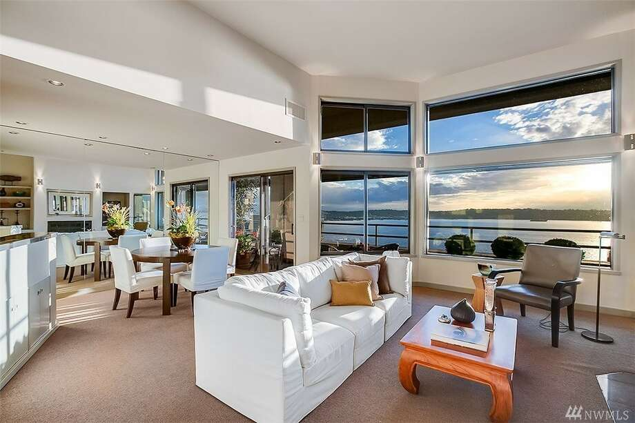 Condo unit B8 in 2021 1st Ave. is listed for $1.25 million. It has two bedrooms,1¾ bathrooms and stunning views of the Olympic Mountains and the Puget Sound. Photo: Listing Courtesy Of Erica Clibborn, Windermere Real Estate Midtown