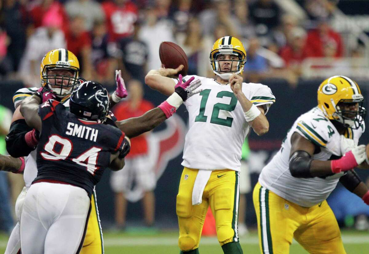 Aaron Rodgers will be making only his second - and perhaps his last - appearance at NRG Stadium on Sunday when the Packers visit the Texans.