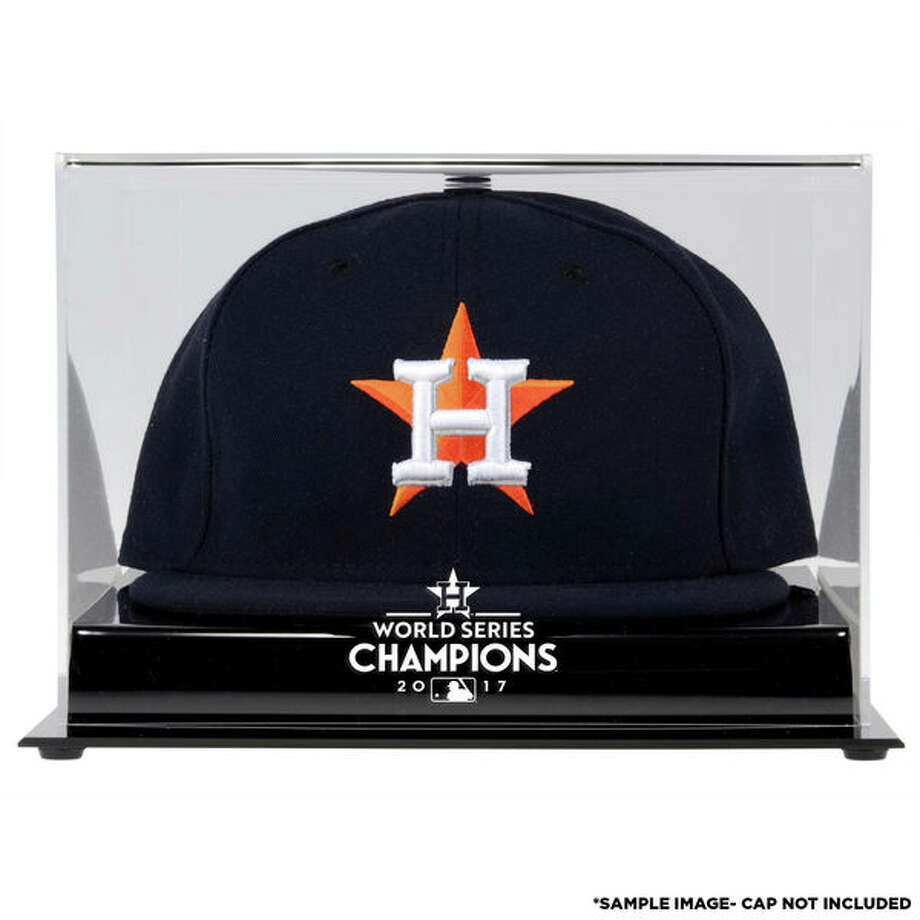 Houston Astros World Series Champions Acrylic Logo cap Display Case: Whether it's the lucky hat your favorite fan wore during Game 7, or a new commemorative hat they purchased after the win, this display case with an authentic Astros World Series logo will keep it safe.(See price & more details) Photo: Fanatics