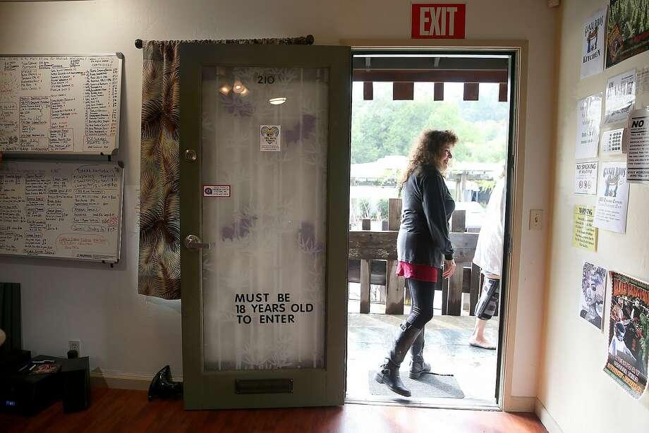 Founder Lynnette Shaw at the Marin Alliance for Medical Marijuana. Photo: Liz Hafalia, The Chronicle