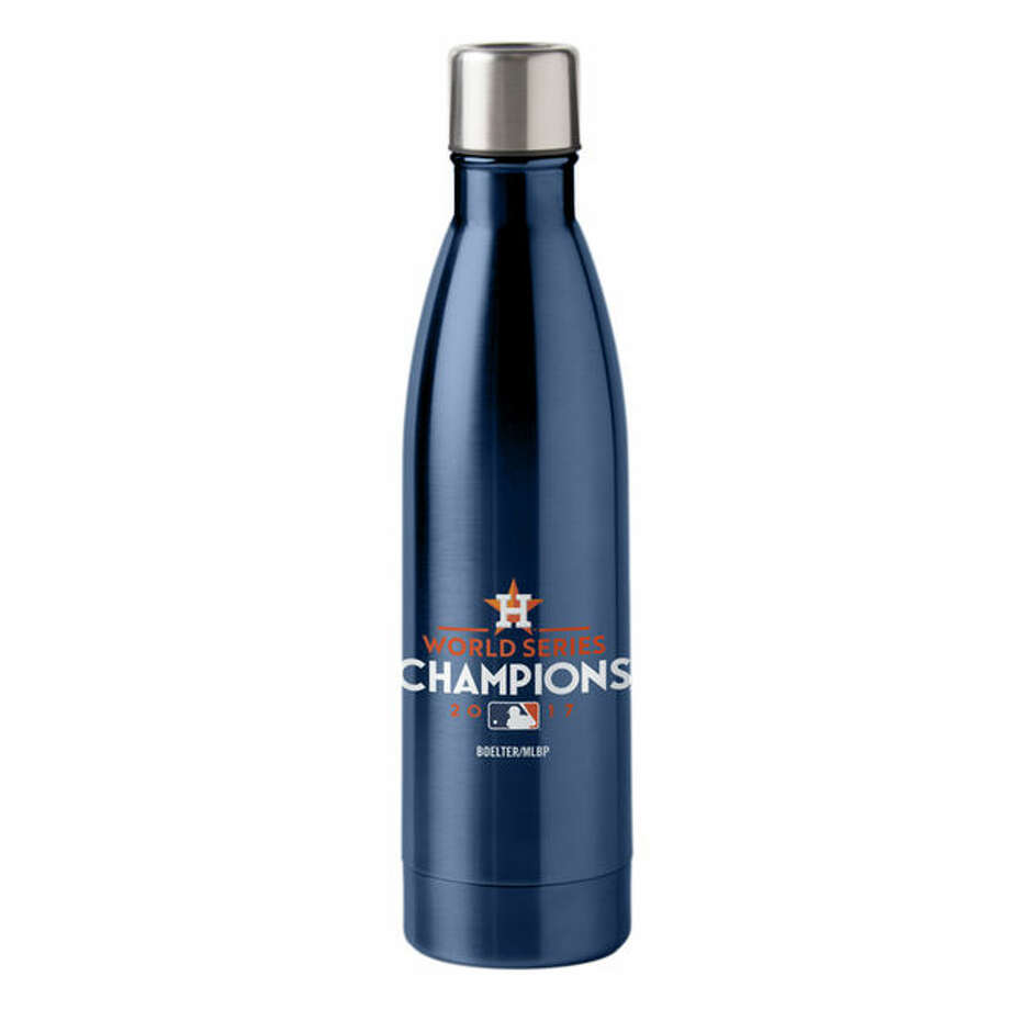 Houston Astros 2017 World Series Champions 18 oz. Colored Travel Bottle: This insulated drinking bottle is great for taking water to the gym, coffee to work or champagne to the locker room for the next victory celebration.(See price & more details) Photo: Fanatics