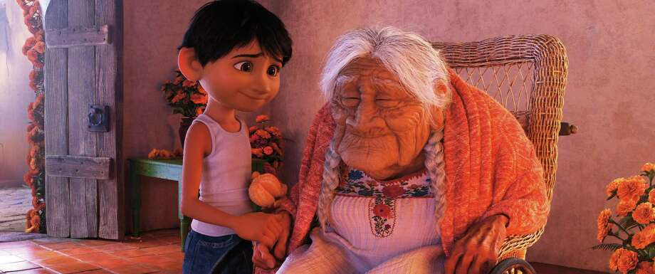 Miguel has a very special relationship with his great-great-grandmother, Mama Coco. Photo: Pixar / ©2017 Disney•Pixar. All Rights Reserved.