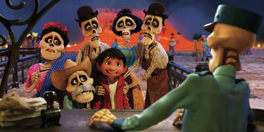 Miguel finds himself magically transported to the Land of the Dead, where he meets his late family members, who are determined to help him find his way home. Photo: Pixar / ©2017 Disney•Pixar. All Rights Reserved.