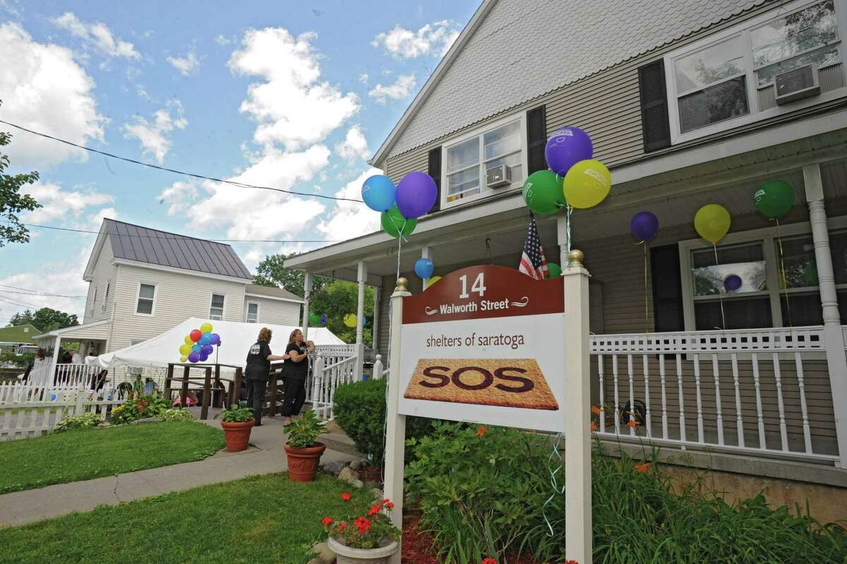 Shelters of Saratoga at 14 Walworth St. with 20 Walworth St. on the left Thursday, June 28, 2012 in Saratoga Springs, N.Y.  (Lori Van Buren / Times Union)