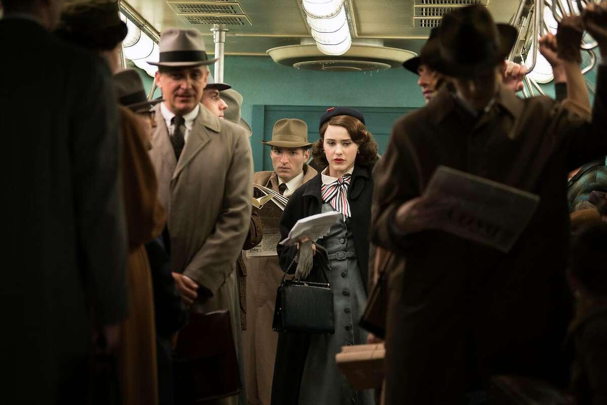 Rachel Brosnahan as Midge Maisel in the new Amazon comedy-drama.