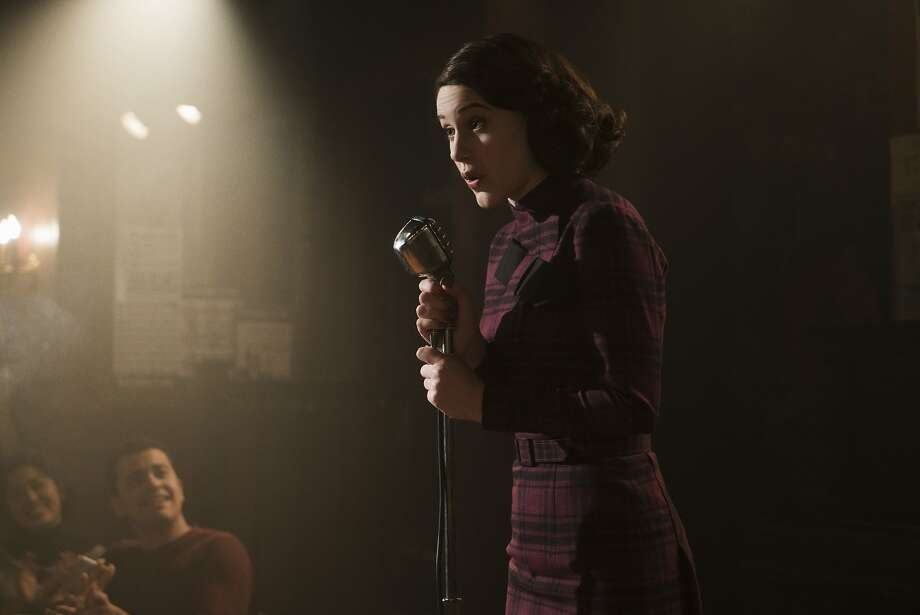 Rachel Brosnahan stars as Midge Maisel.  Photo: Amazon Prime