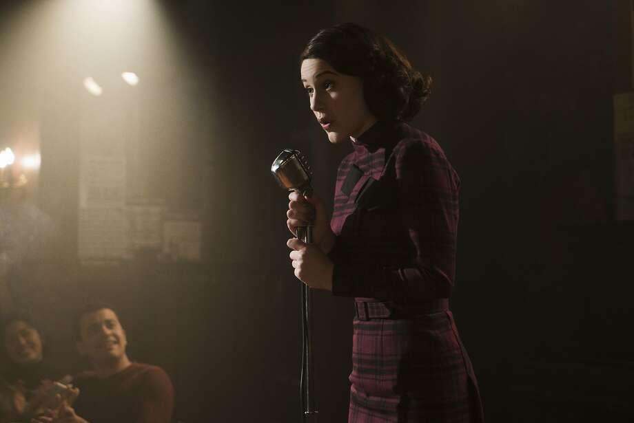 Rachel Brosnahan stars as Midge Maisel. Photo: Amazon Prime
