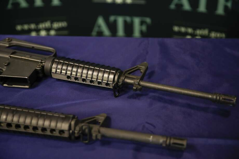The Tehama Coun ty attacker assembled these homemade rifles. Photo: Jae C. Hong, Associated Press