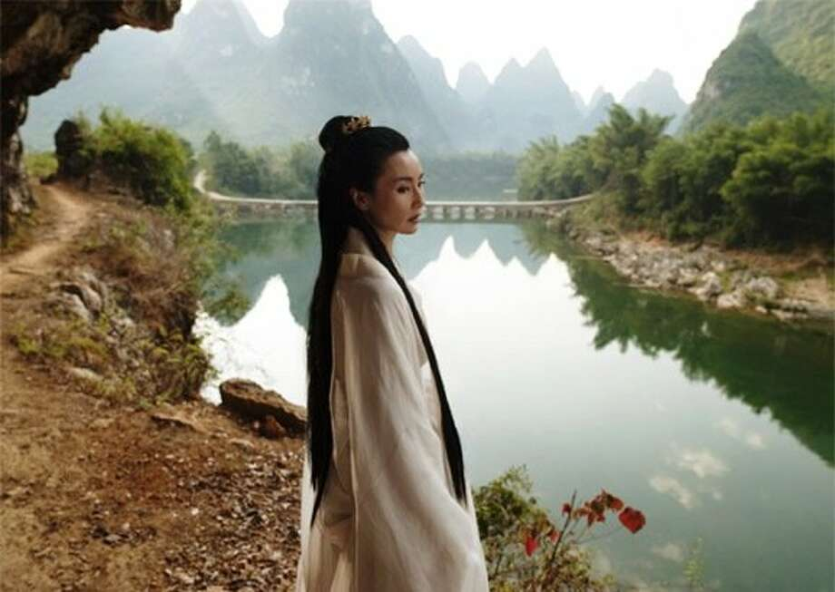 "Chinese actress Maggie Cheung plays the goddess Mazu in British artist Isaac Julien's film ""Ten Thousand Waves."" Photo: Courtesy Isaac Julien"