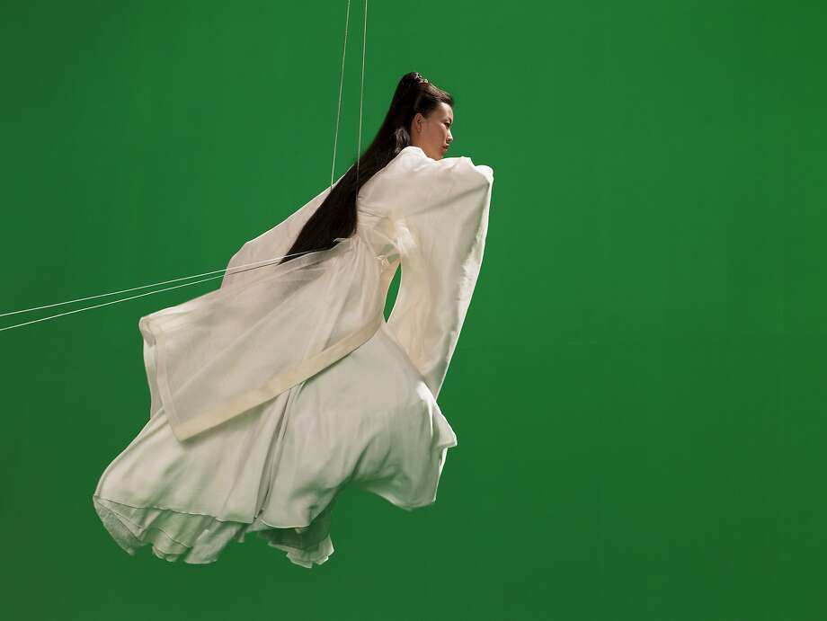 "Legendary Chinese actress Maggie Cheung plays the goddess Mazu in British artist Isaac Julien's film ""Ten Thousand Waves."" Photo: Courtesy Isaac Julien"