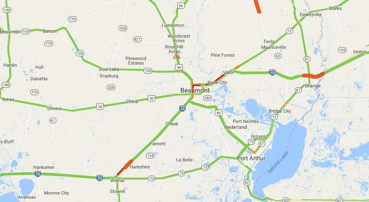 Some Southeast Texas area highways are experiencing heavy congestion this evening.