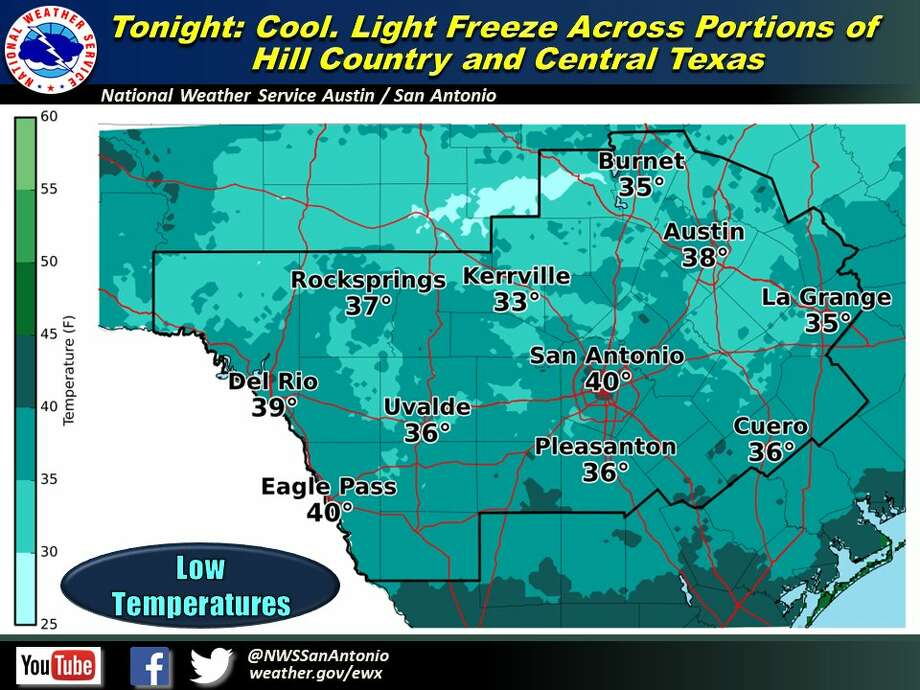 Bring freeze sensitive plants inside Wednesday, the NWS warns. Photo: National Weather Service