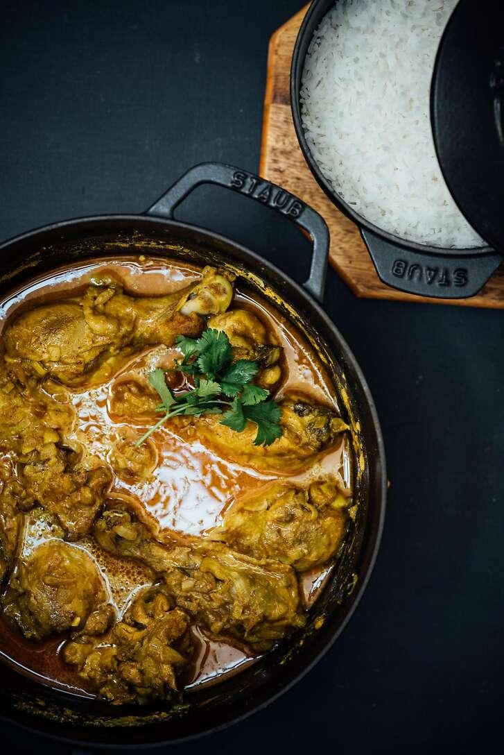 Yogurt chicken curry by Nik Sharma