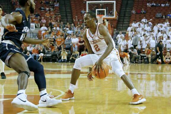Freshman guard Matt Coleman, right, and the rest of the Longhorns will get a chance to measure themselves against Butler today and No. 1 Duke if they win.